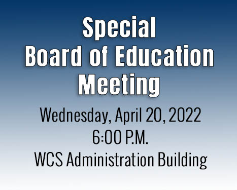 Special Board of Education Meeting